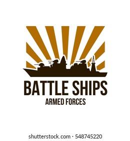 battle tank logo design template stock vector royalty free