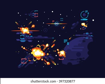 Battle star space