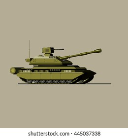 Battle tank. A military game panzer. barrel. attack.