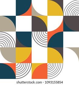 Bauhaus pattern background style vector