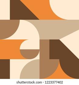 Bauhaus style autumn pattern
