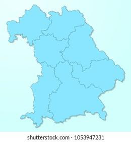 Bavaria blue map on degraded background vector