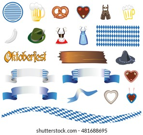 Bavaria Oktoberfest - vector set