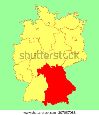 Map Of Germany Bavaria.Bavaria State Map Germany Vector Map Stock Vector Royalty Free