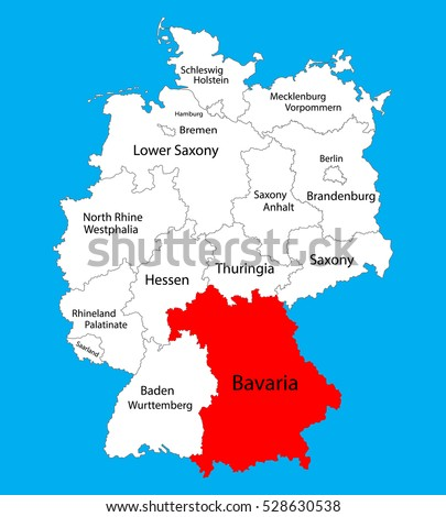 bavaria state map germany vector map stock vector royalty free