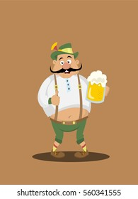 Bavarian man with beer