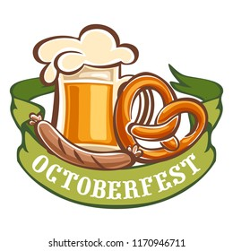 Bavarian octoberfest icon. Cartoon of bavarian octoberfest vector icon for web design isolated on white background