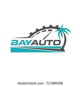 Bay Automotive Logo Design Symbol