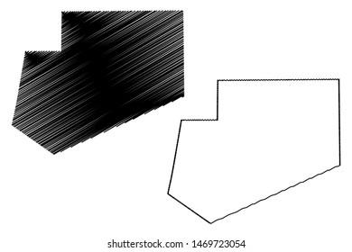 Bay region (Federal Republic of Somalia, Horn of Africa) map vector illustration, scribble sketch Bay map