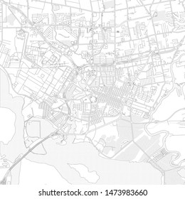 Baytown, Texas, USA, bright outlined vector map with bigger and minor roads and steets created for infographic backgrounds.