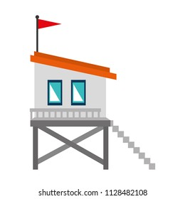 baywatch booth building icon