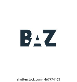 BAZ Logo. Vector Graphic Branding Letter Element. White Background
