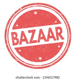 Bazaar sign or stamp on white background, vector illustration