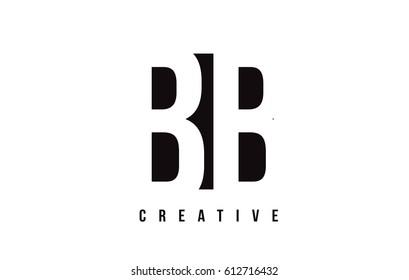 BB B B White Letter Logo Design with Black Square Vector Illustration Template.