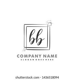 BB Initial beauty monogram logo vector