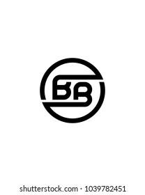 BB initial circle logo template vector