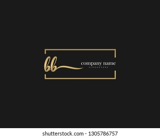BB Initial handwriting logo vector. Hand lettering for designs.