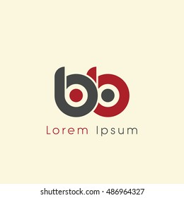 bb initial letter linked lowercase logo. b and b vector template design.
