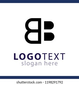 BB Initial letter logo vector template