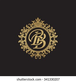 BB initial luxury ornament monogram logo