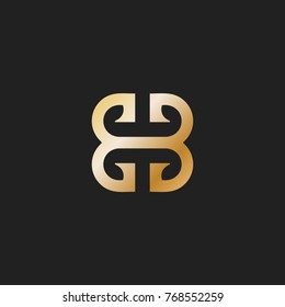 bb letter abstract gold logo vector.eps