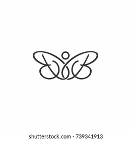 BB letter initial butterfly logo.