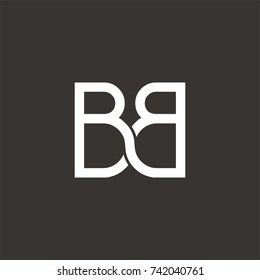 BB logo initial letter design template vector