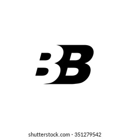 BB negative space letter logo