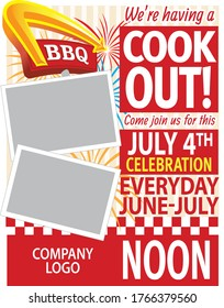 BBQ Cook Out Vector Flyer