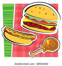 BBQ food illustration