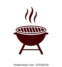 Bbq grill vector icon isolated on white background