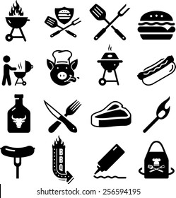 BBQ, grilling, and tailgating icons