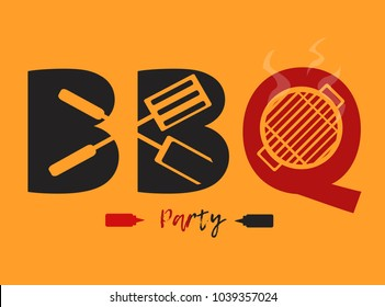 BBQ logo design vector or banners graphic