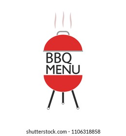 BBQ party icon isolated on white background. Barbeque grill concept. Cookout. Vector flat design