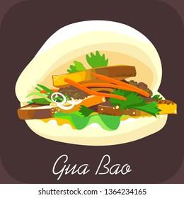 BBQ pork bao, Gua bao, Pork bao, Chinese food, Taiwanese burger