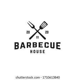 BBQ restaurant logo design template