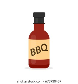 BBQ sauce bottle icon. Barbecue clipart isolated on white background