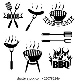 BBQ, set icons, logos,badges, labels