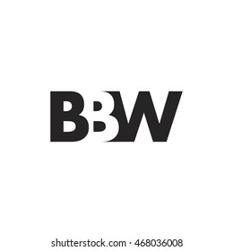 BBW Logo. Vector Graphic Branding Letter Element. White Background