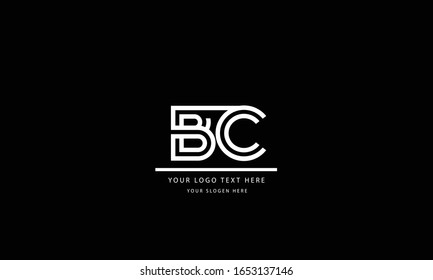 BC CB abstract vector logo monogram template