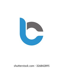 bc, cb overlapping rounded letter logo
