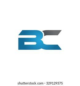 BC company linked letter logo blue