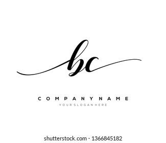 BC handwriting initial  logo vector
