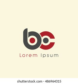 bc initial letter linked lowercase logo. b and c vector template design.