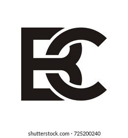 BC initial letter logo design template vector