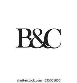 B&C Initial logo. Ampersand monogram logo