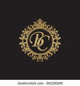 BC initial luxury ornament monogram logo