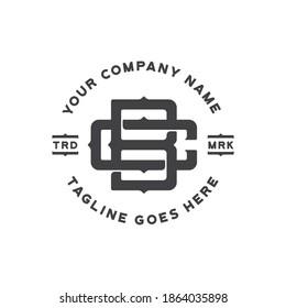 bc monogram logo for clothing company