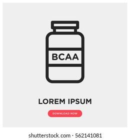 BCAA amino acid vector icon