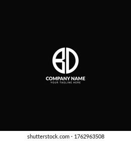 BD b d  Letter Logo Design- Letter BD Logo Design-BD Letter  Round Logo Design